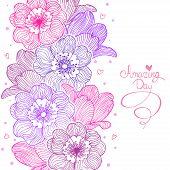 flowers stripe design