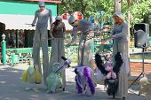 Perm, Russia - Jun, 23, 2014: Bird Puppets And Puppeteers At Show Of Perm Puppet Theater In Gorky Pa
