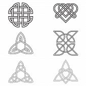 Celtic Endless Knot  Isolated On White Background