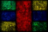 Grunge Colored Fibonacci Boxes Background