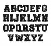 Slab-serif Font In The Style Of College