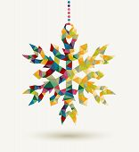 Christmas Holidays Triangle Snowflake Background