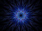 Star Shaped Blue Fractal