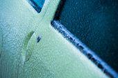 Frozen Car Door In Winter