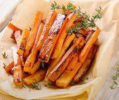 Sweet Potato Fries With  Herbs .