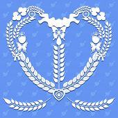 Heart Shape Of Decorative Elements Vector