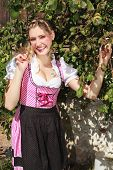 Pretty young woman in a Bavarian dirndl