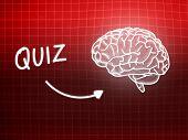 Quiz Brain Background Knowledge Science Blackboard Red