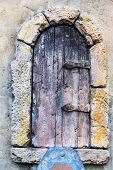 Vintage Old Window With Wrought-iron Metal. Evpatoria, Crimea