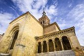 Segovia, Spain at San Millan Church. Built between 1111 and 1124, it is one of the oldest churches in the city.