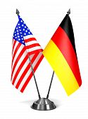 USA and Germany - Miniature Flags