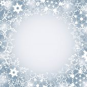 Winter Luxury Festive Frame With Snowflakes