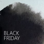 vector abstract watercolor background for your design. black friday promotional poster