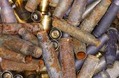 A group of bullet casings.