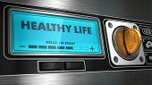 Healthy Life on Display of Vending Machine.