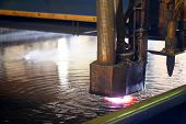 image of a machine for the laser cutting metal in water