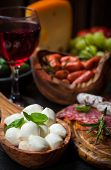 Photo of antipasti and appetizers