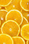 background of sliced oranges