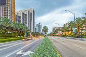 Early Morning Streetview In Sunny Isles Beach