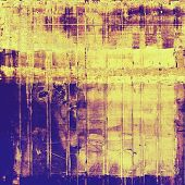 Grunge aging texture, art background. With different color patterns: purple (violet); brown; yellow; blue