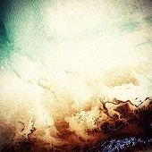 Old-style background, aging texture. With different color patterns: white; green; brown; yellow
