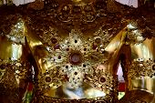 Thai pattern on image Buddha