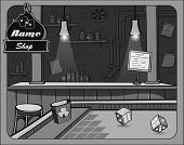 Illustration of cowboy bar