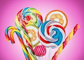 Colorful Candies And Lollipop