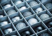 Gift Box With Bright Christmas Balls