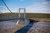 The Bridge Over Icelandic River Jokulsa A Fjollum
