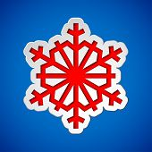 Cut out christmas snowflake