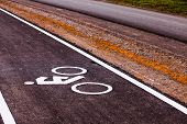 The bicycle road sign in Thailand.