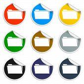 Folder Blue Flat Web Icon