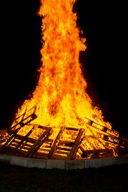pic of tetrahedron  - Images taken by a large warm bonfire made out of wood pallet at a fire festival in Chester County PA - JPG