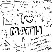 picture of formulas  - Vector illustration of math formulas drawn with doodle style isolated on white - JPG