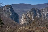 stock photo of serbia  - Rock Formation in Erma River Gorge - JPG