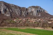 pic of serbia  - Panorama of Vlasi Village and rock formation - JPG