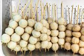 picture of pork  - fried pork balls or pork meatballs  - JPG