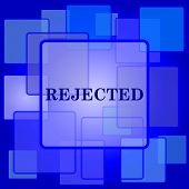 stock photo of reject  - Rejected icon - JPG