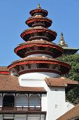 stock photo of nepali  - Nepali architecture in the Royal Palace Kathmandu - JPG