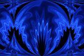 Blue Black Image