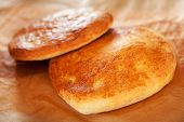 stock photo of flat-bread  - Turkish Pide  - JPG