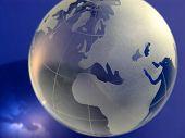 Isolated Globe On Blue