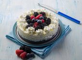 foto of ice-cake  - ice cream cake with mix berries - JPG