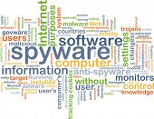 picture of spyware  - Background text pattern concept wordcloud illustration of spyware software - JPG