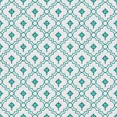 stock photo of celtic  - Teal and White Celtic Cross Symbol Tile Pattern Repeat Background that is seamless and repeats - JPG