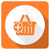 picture of cart  - cart orange flat icon shopping cart symbol  - JPG