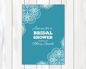 picture of bridal shower  - Bridal shower or wedding invitation - JPG