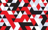 picture of color geometric shape  - Retro pattern of geometric shapes - JPG