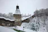 pic of fortified wall  - Russian winter - JPG